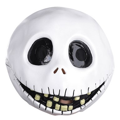 Jack Skellington Full Face Vinyl Mask for Costume