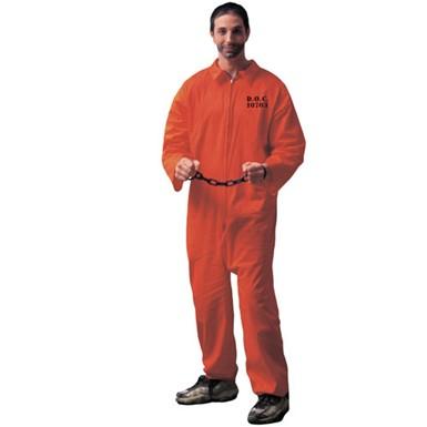 Halloween Orange Jumpsuit   Mens Jailbird Costume Orange Jumpsuit Adult Halloween Costumes