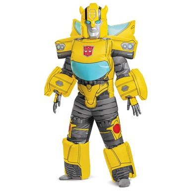 Kids Bumblebee Evergreen Inflatable Transformers Costume