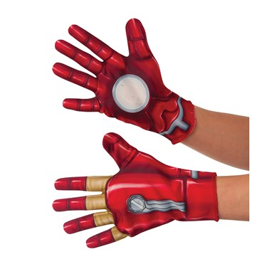 Kids Civil War Iron Man Halloween Gloves