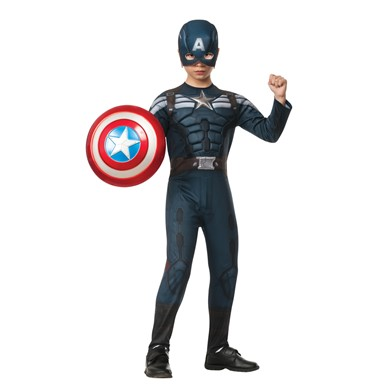 Kids Deluxe Captain America Stealth Suit Halloween Costume
