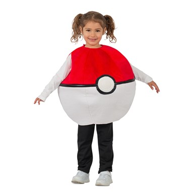 Kids Pokemon Pokeball Plush Halloween Costume
