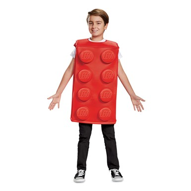 Kids Red Lego Brick Halloween Costume