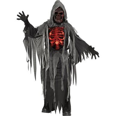 Kids Smoldering Reaper Horror Halloween Costume