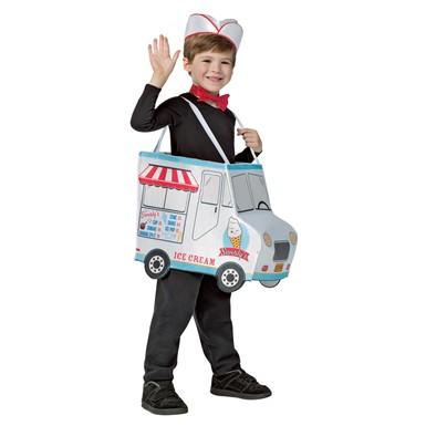 kids swirlys ice cream truck costume size 4 6x