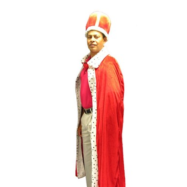 King Robe and Crown Set Mens Adult Halloween Costume