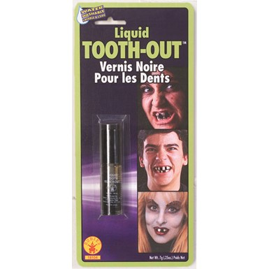 Liquid Tooth Black Out Halloween Accessories