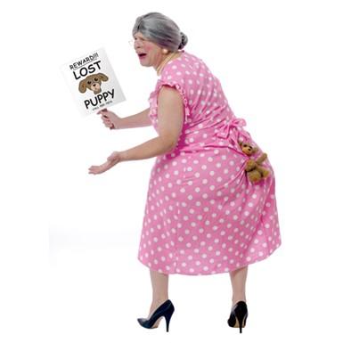 Grey Old Lady Grandma Wig For Halloween Costume