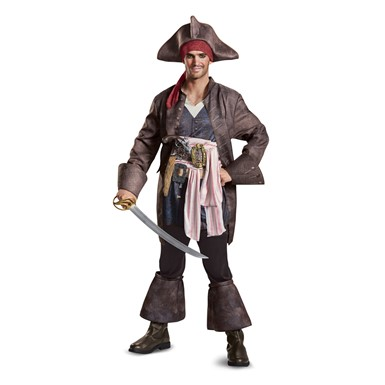 Mens Captain Jack Sparrow Deluxe Pirate Costume
