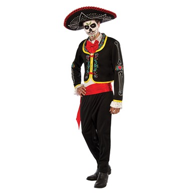 Mens Deluxe Day Of The Dead Senior Halloween Costume
