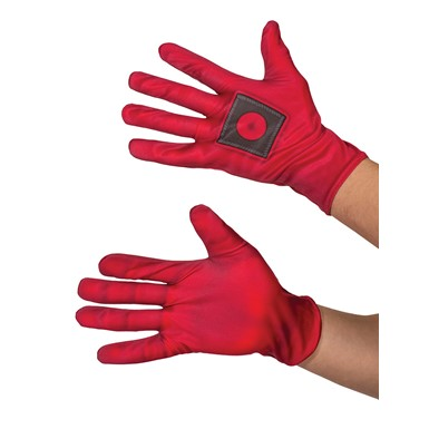 Mens Deadpool Halloween Costume Gloves