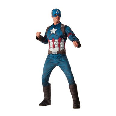Mens Deluxe Captain America Civil War Halloween Costume