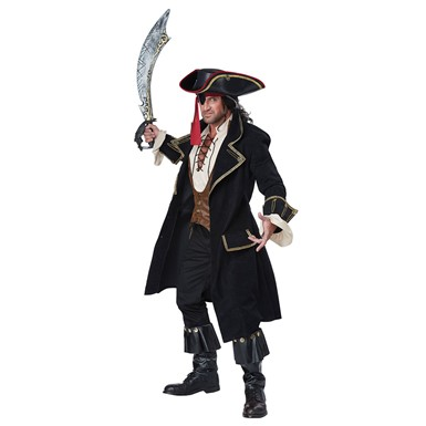 Mens Deluxe Pirate Captain Halloween Costume