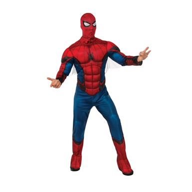 Mens Deluxe Spiderman Homecoming Muscle Chest Costume
