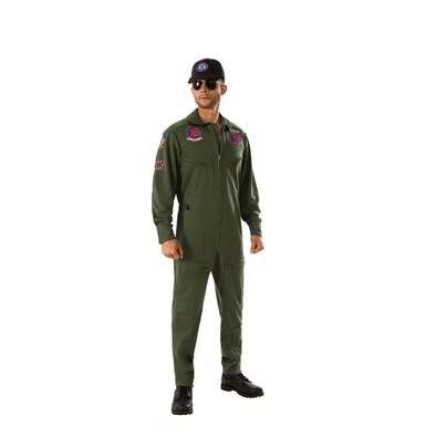 Mens Deluxe Top Gun Pilot Costume