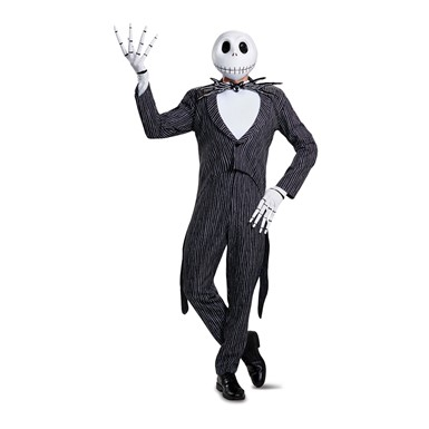Mens Jack Skellington Prestige Halloween Costume