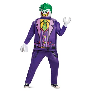 Mens LEGO Joker Movie Deluxe Halloween Costume