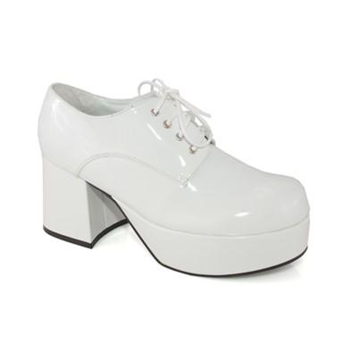c4f26decb437 Mens White Platform Shoes for Mens Disco 70s Halloween Costume