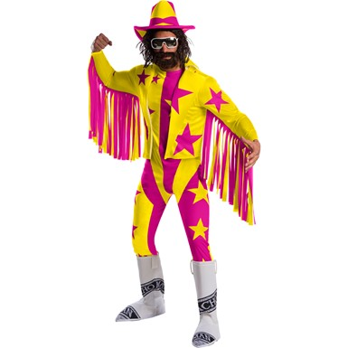 Mens WWE Deluxe Macho Man Randy Savage Adult Halloween Costume