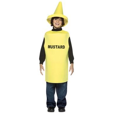 mustard bottle kids halloween costume size 7 10