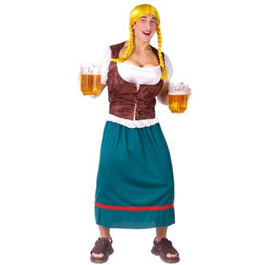 Oktoberfest Beer Girl Adult Mens Halloween Costumes  sc 1 st  Costume Kingdom & Mens Oktoberfest Costume - Beer Girl Bavarian Adult Halloween Costumes