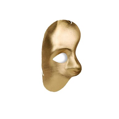 Phantom Gold Half Mask for Halloween Costume Accessory