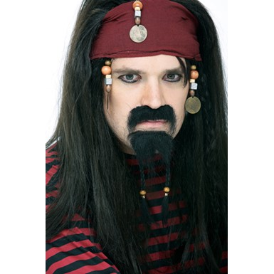 Pirate Beard and Goatee Set for Halloween Costume