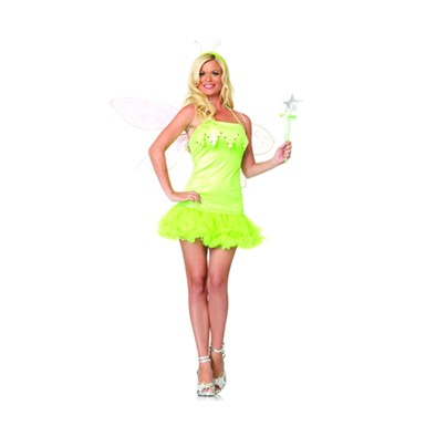 Pixie Dust Fairy Womens Sexy Tinker Bell Costume