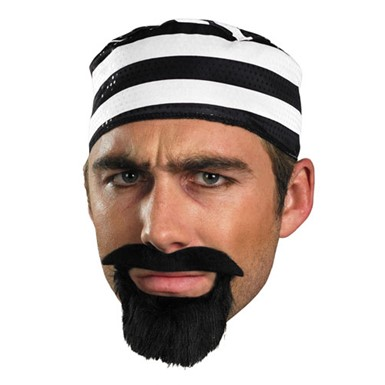Prisoner Mustache for Adult Halloween Costume  sc 1 st  Costume Kingdom & Fake Moustache - Prisoner Halloween Costumes and Accessories