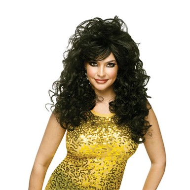 Seductive Womens Sexy Halloween Costume Wig - Black