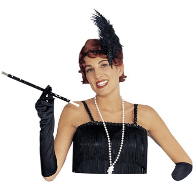 Sequin Black Long Flapper Cigarette Holder Accessory
