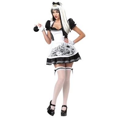 Sexy Dark Alice Womens Gothic Adult Halloween Costume