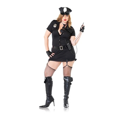 Sexy Dirty Cop Plus Size Womens Halloween Costume  sc 1 st  Costume Kingdom & Plus Size Cop Costume - Dirty Cop - Womens Hallween Costumes