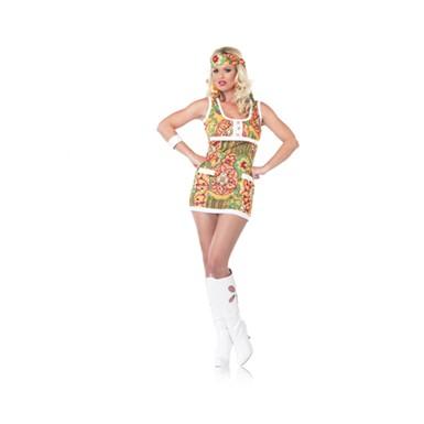 Hippie Girl Halloween Costume.Womens White Patent Go Go Boots