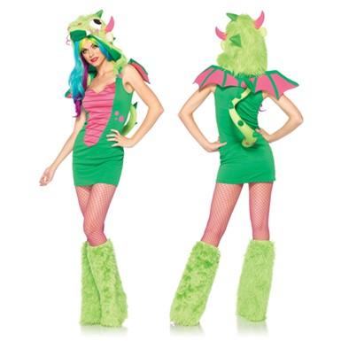 Sexy Puff the Magic Dragon Womens Halloween Costume  sc 1 st  Costume Kingdom & Sexy Puff the Magic Dragon Costume - Womens Halloween Costume