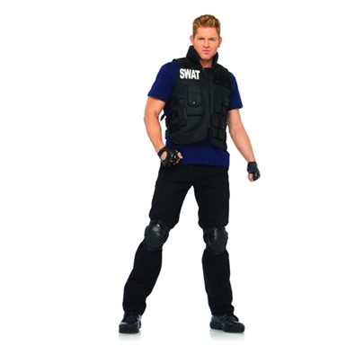 SWAT Commander Sexy Cop Adult Standard Size Costume one size