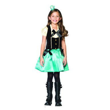 Tea Party Princess Mad Hatter Kids Halloween Costume