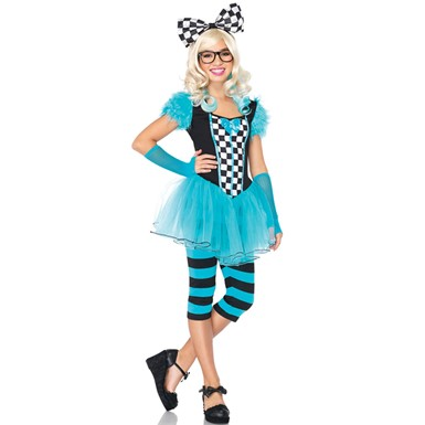 Teen Girls Nerdy Alice Wonderland Halloween Costume