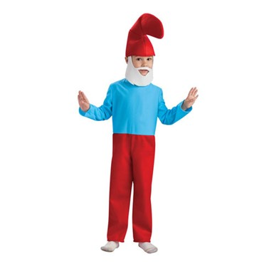 The Smurfs Child Papa Smurf Halloween Costume
