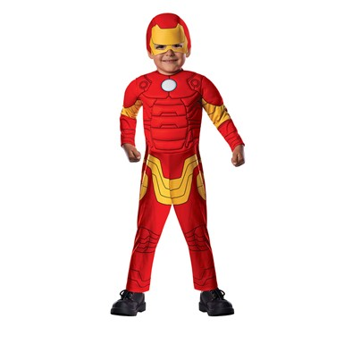 Toddler Iron Man Muscle Halloween Costume Size 2T-4T