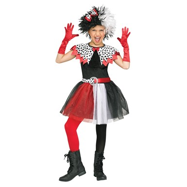 tween girls dalmatian diva costume cruella de vil costumes. Black Bedroom Furniture Sets. Home Design Ideas