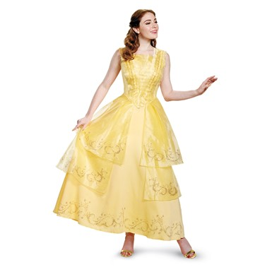 Womens Disney Belle Ball Gown Prestige Costume