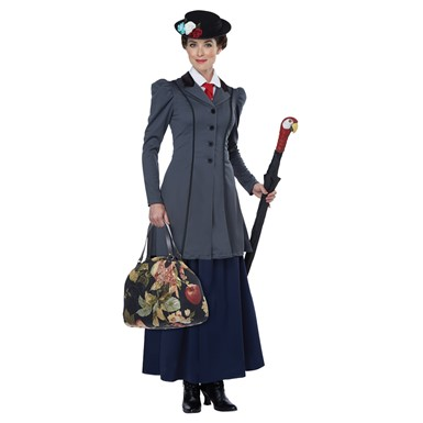 Womens English Nanny Mary Poppins Halloween Costume