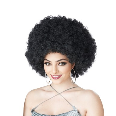 Womens Foxy Lady Afro Wig - Black