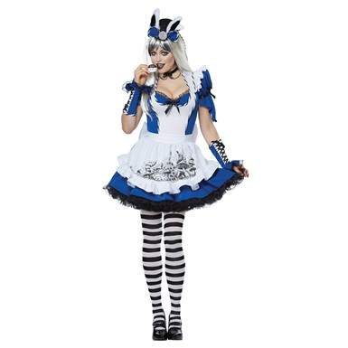 Womens Mad Alice in Wonderland Sexy Costume