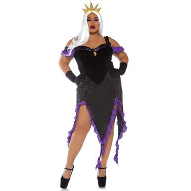 Plus Size Sultry Sea Witch Costume Disney Ursula Costume