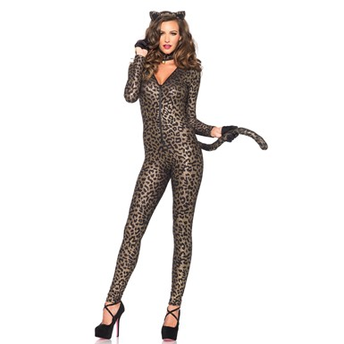 Womens Sex Kitten Sexy Catsuit Costume