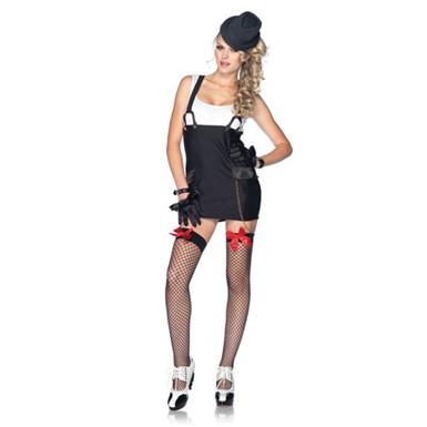Womens Sexy Gangster Girl Adult Halloween Costume