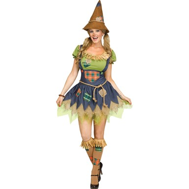 Womens Sweet Scarecrow Wizard of Oz Costume
