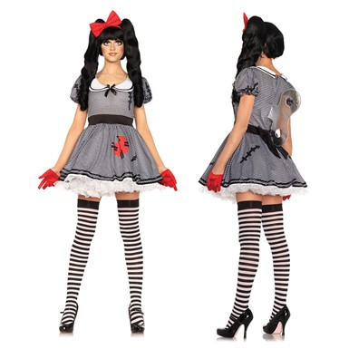 Womens Wind-Me-Up Dolly Halloween Costume